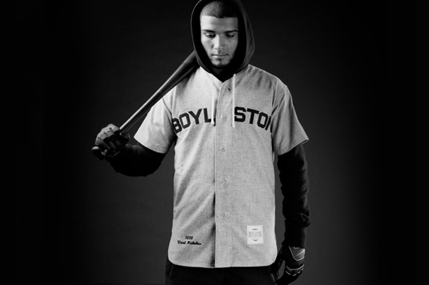 "Boylston Trading Company x Mitchell & Ness ""Coin & Leaf League"" Vintage Baseball Jersey"
