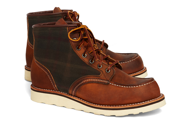 Brooks Brothers x Red Wing 4553 Tartan Panel Boot
