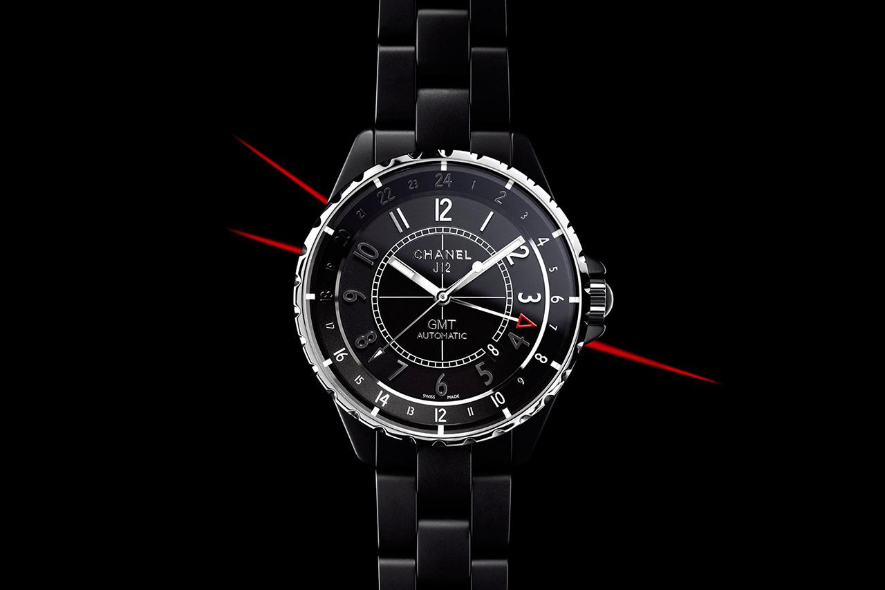 Chanel 2012 J12 GMT Matte Black Watch