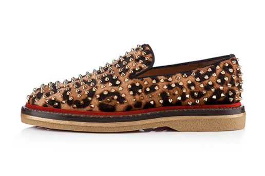 Christian Louboutin 2012 Fall/Winter Fredapoiters Printed Pony Hair Loafer