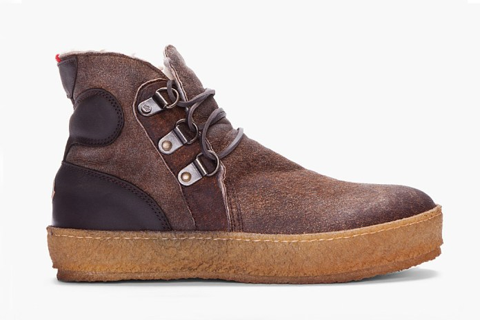 Moncler Espresso Raw Sheepskin Nevada Shoe
