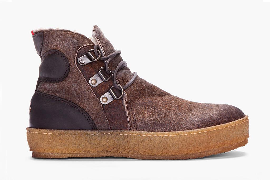 moncler espresso raw sheepskin nevada shoe