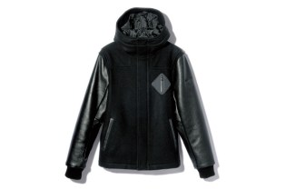 F.C.R.B. HOODED VARSITY JACKET