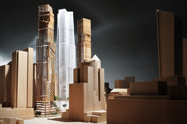 frank gehry david mirvish unveil plans for entertainment district in toronto