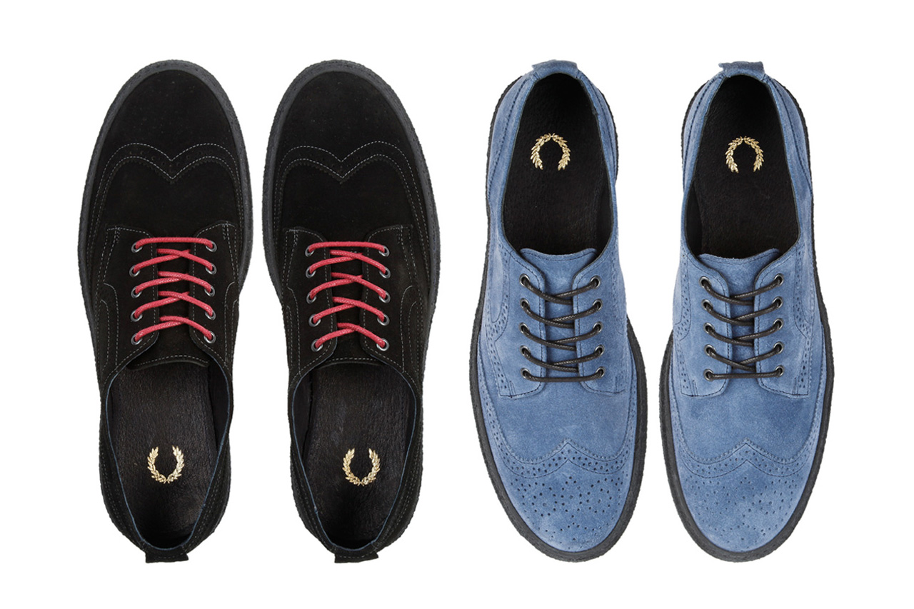 fred perry davies suede creeper
