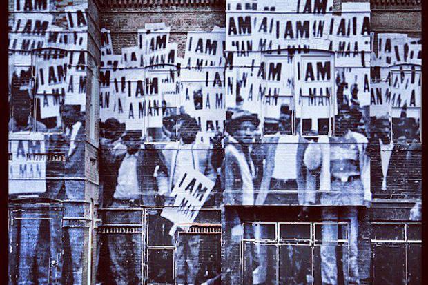 """JR """"I Am a Man"""" Mural in Washington, D.C."""