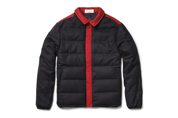 marni wool blend quilted jacket