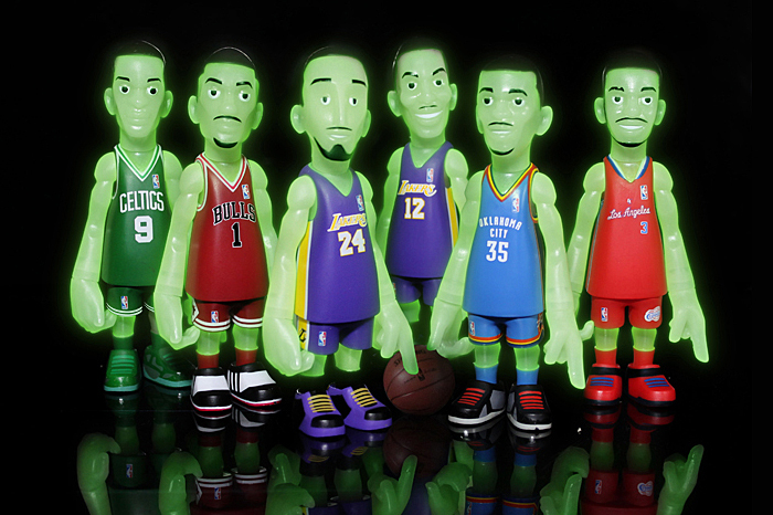 mindstyle for bait nba glow in the dark collectible figure set