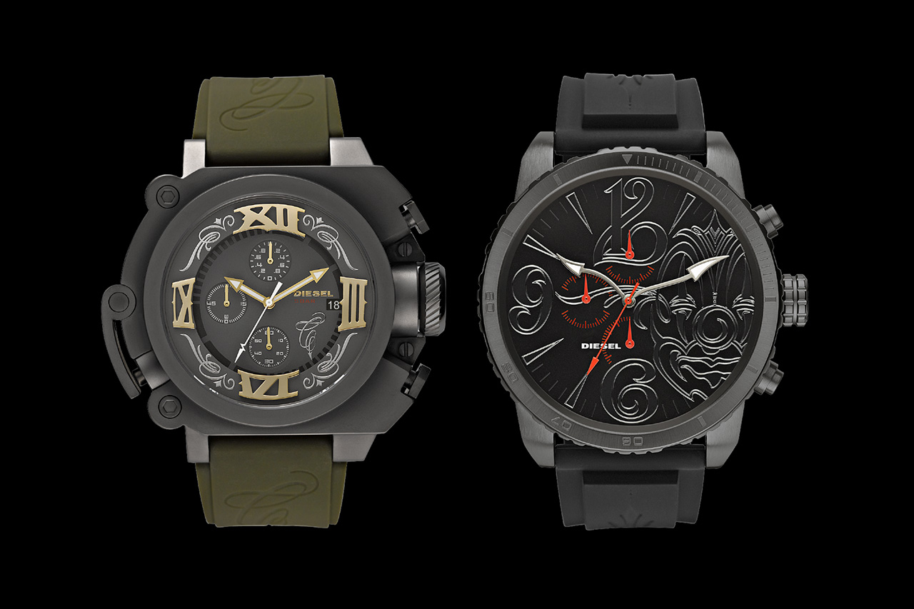"Diesel Launches First-Ever Watch Collaboration and ""Time 2 Ride"" Video Series with Mister Cartoon"