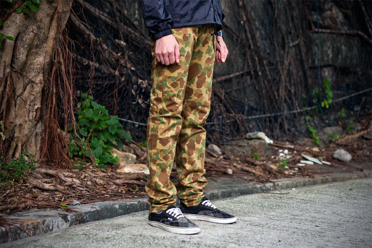 naked famous 2012 fall weird guy double sided camo