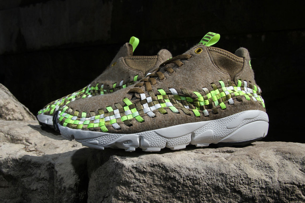 nike air footscape woven chukka volt wool