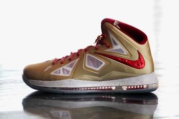 "Nike LeBron X ""Championship Gold"""