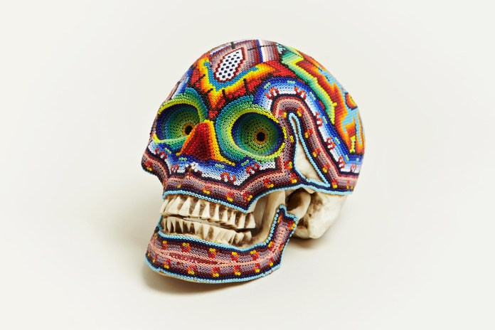 Our Exquisite Corpse Large Beaded Skull