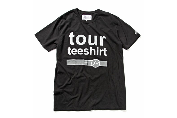 outstanding presents tour tee shirt by fragment design x peel lift