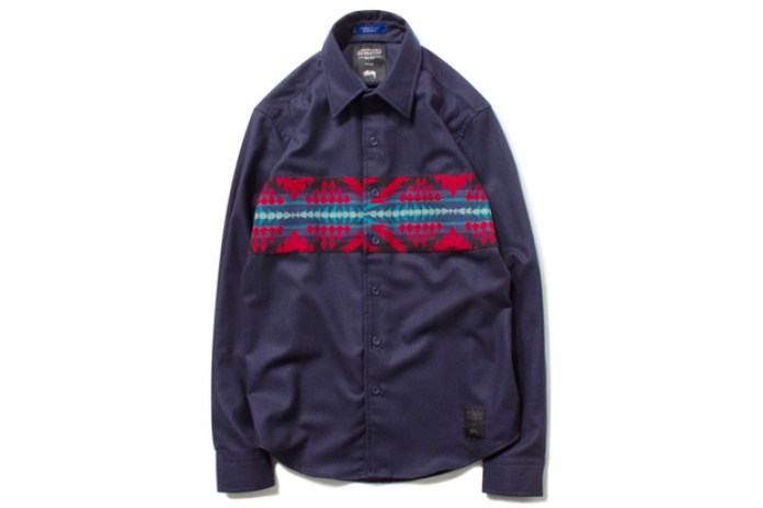 Pendleton x Stussy Wool Comp Band Shirt