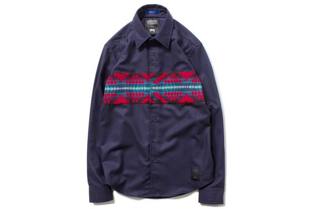 Pendleton x Stussy Wool Comp Band Shirt