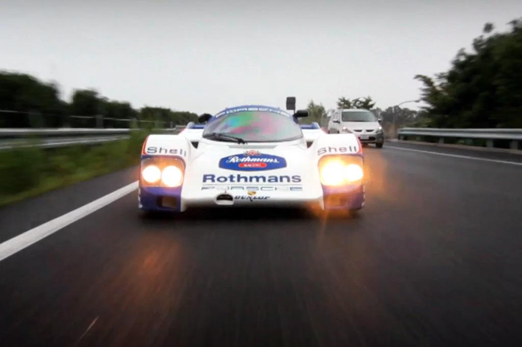 Porsche's 962 Racing Prototype Hits the Streets of Japan