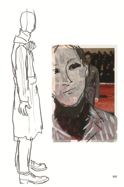 prada fall winter 2012 presented through illustrator richard haines il palazzo