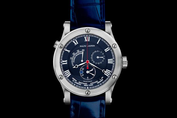 Ralph Lauren Steel Sporting World Time Watch
