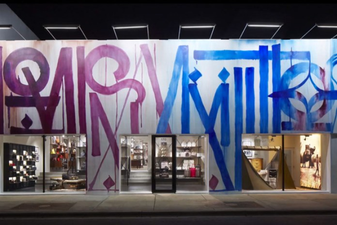 RETNA Transforms Louis Vuitton Miami Store Facade Into a Work of Art
