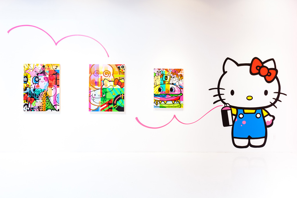 sanrio hello kitty hello art book release and show known gallery recap