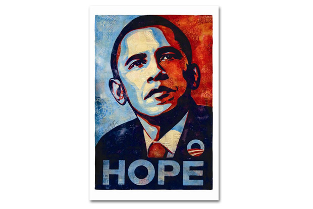 "Shepard Fairey Discusses How the ""Hope"" Poster Would Appear in 2012 Along with Redesigning The Rolling Stones"