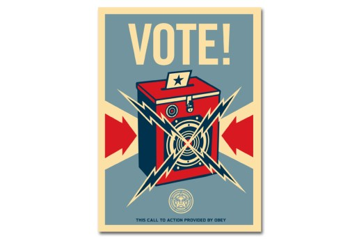 Shepard Fairey Wants You to Remind Friends & Family to Vote