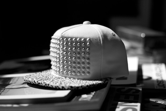 Stampd All White Pony Hair Studded Hat
