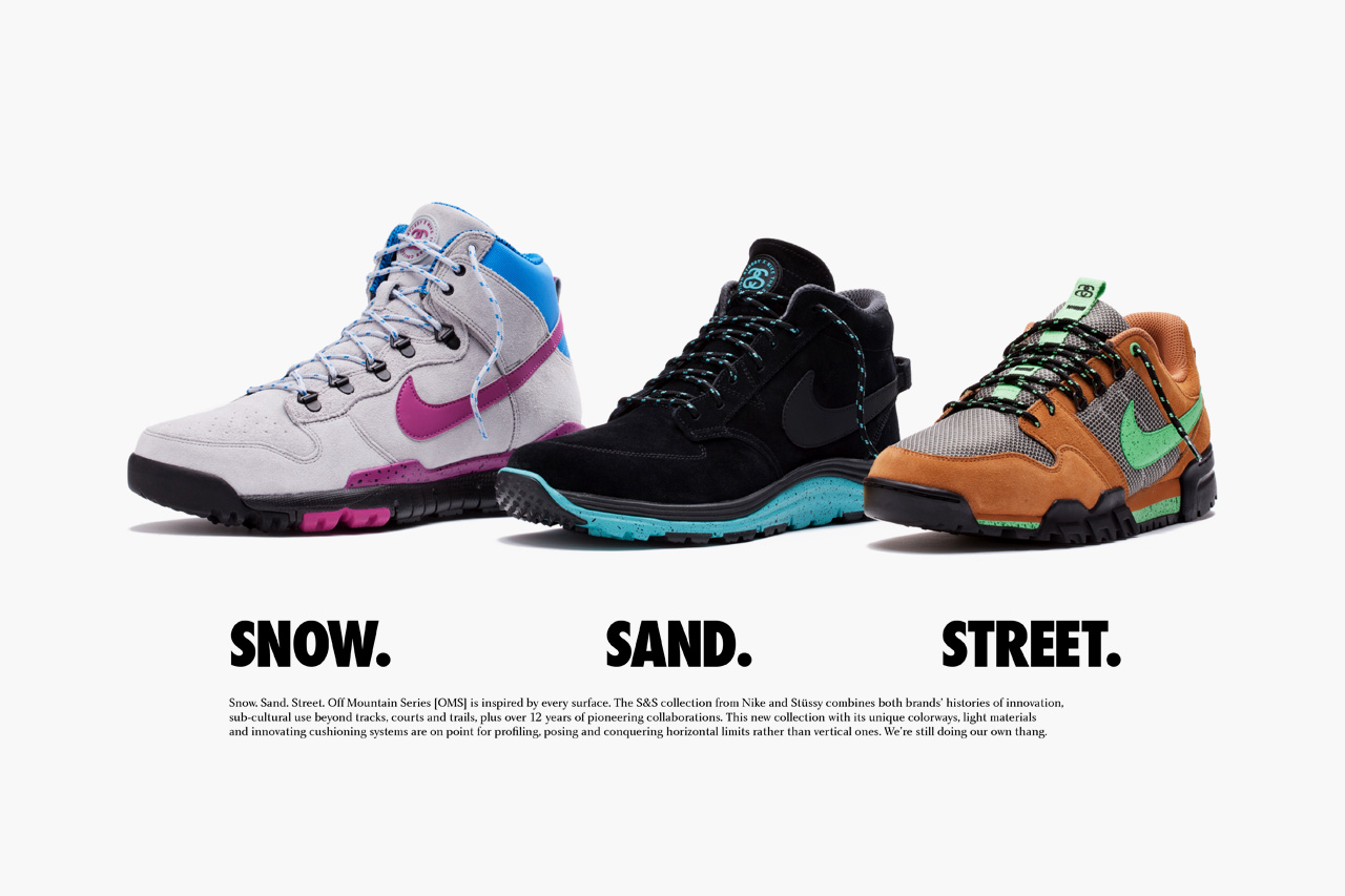 stussy x nike off mountain system ss footwear collection preview