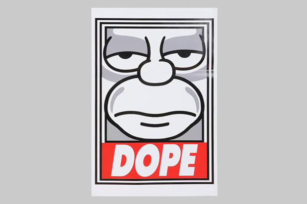 """The Simpsons x Shepard Fairey """"Dope"""" Poster"""