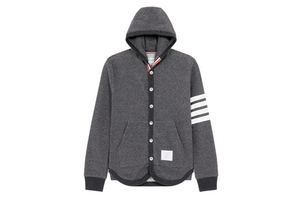 Thom Browne Button-Up Hoodie