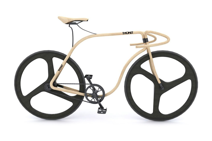 Thonet and Andy Martin Craft a Bike Out of Beech Wood