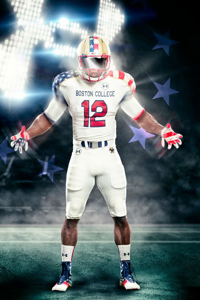under armour x boston college freedom football uniforms
