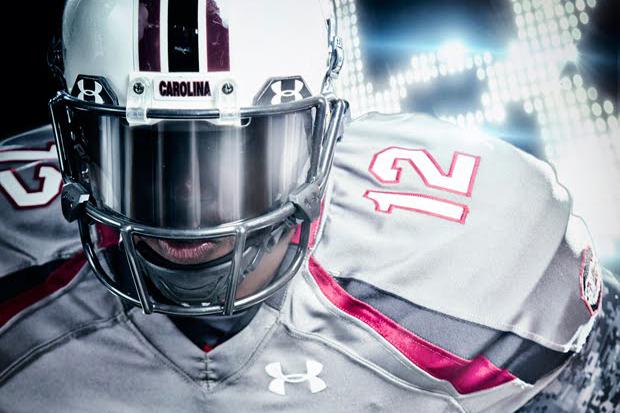 "Under Armour x South Carolina Custom ""Battle"" Football Uniforms"