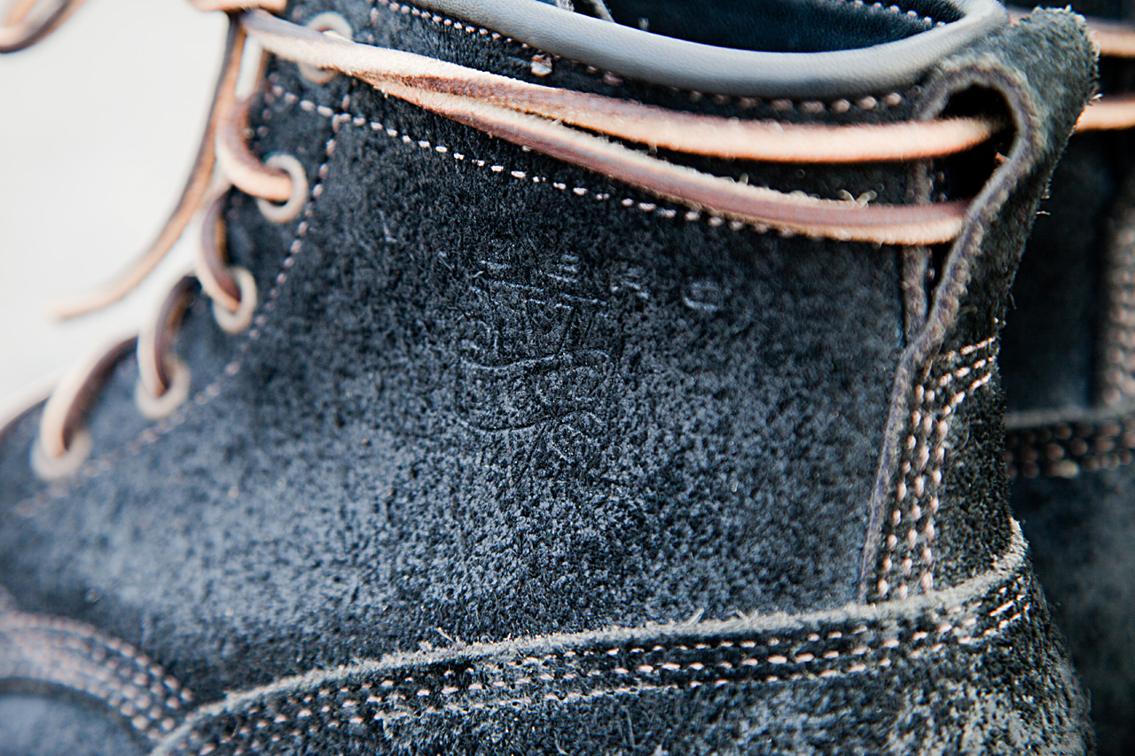Viberg Black Oil Rough Out Bobcat Suede Boots