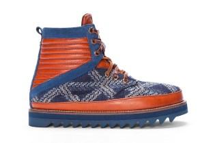 Volta Blue Jacquard Madeshi Boot