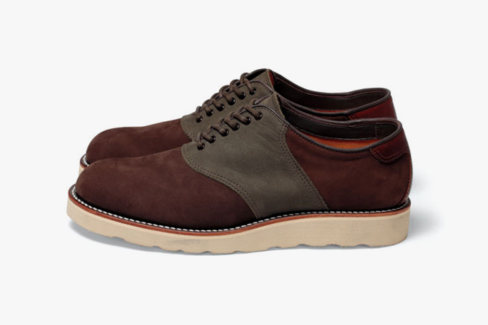 wtaps saddle shoes shoes leather cow