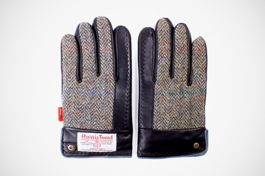 WTAPS x Harris Tweed Leather Gloves