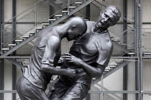Zinedine Zidane Immortalized with Headbutt Statue by Adel Abdessemed