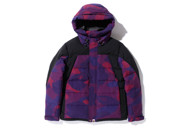 A Bathing Ape ZOOM COLOR CAMO 2TONE HOODIE DOWN JACKET