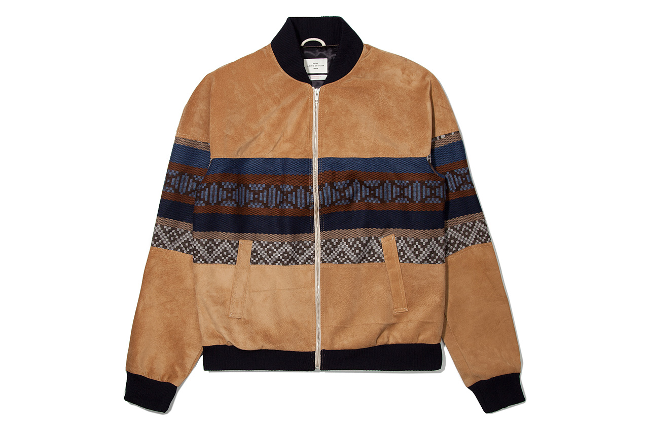 a kind of guise 2012 fall winter seniors suede bomber