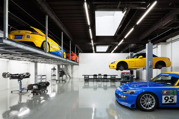 a stunning garage speedshop type one by torafu architects