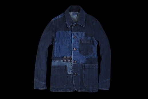 BLUE BLUE 2012 Fall/Winter Sashiko Fabric Coverall Jacket
