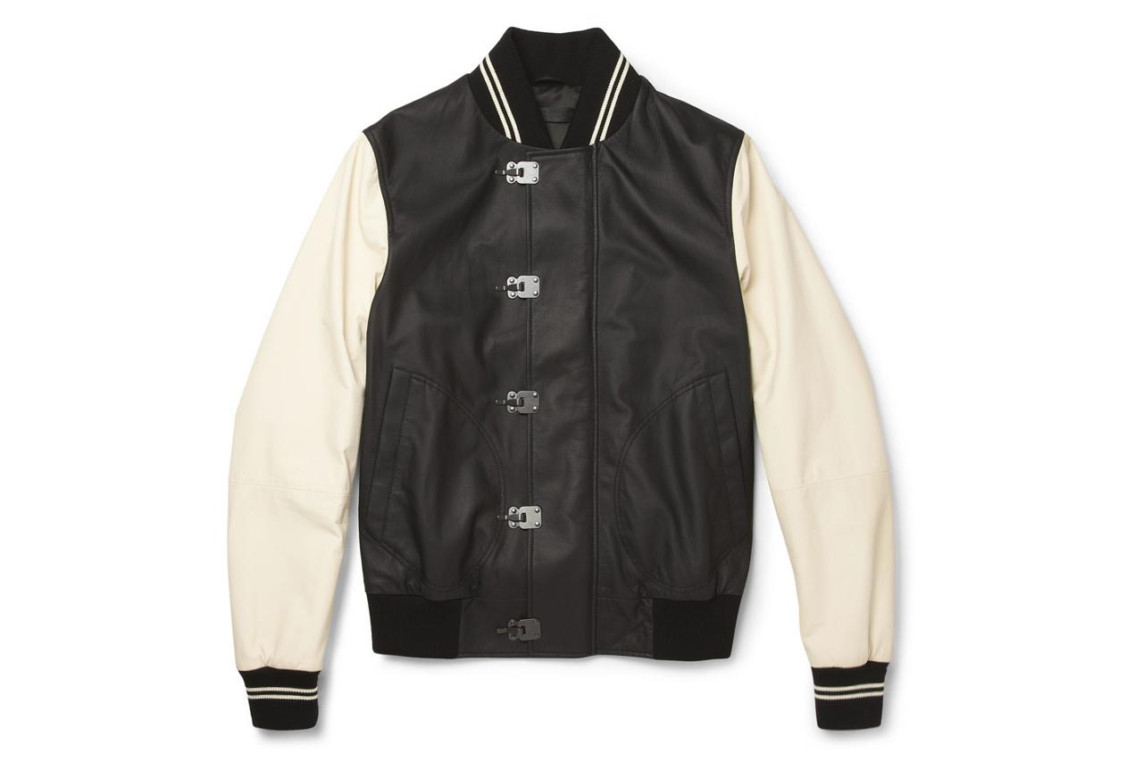 Bottega Veneta Leather Varsity Jacket