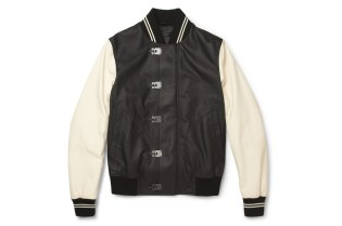 Bottega Veneta Leather Varsity Jacket