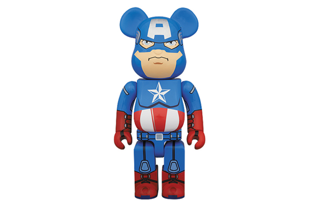 Captain America x Medicom Toy 400% Bearbrick