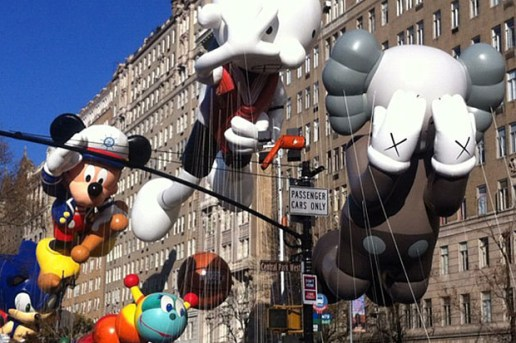 CBS Documents KAWS' Companion Balloon for the Macy's Thanksgiving Day Parade