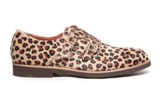 Del Toro Leopard Pony Hair Double Monkstrap