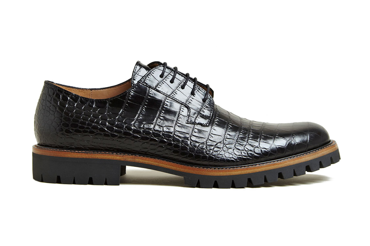 Dries Van Noten Patterned Leather Oxford Shoes