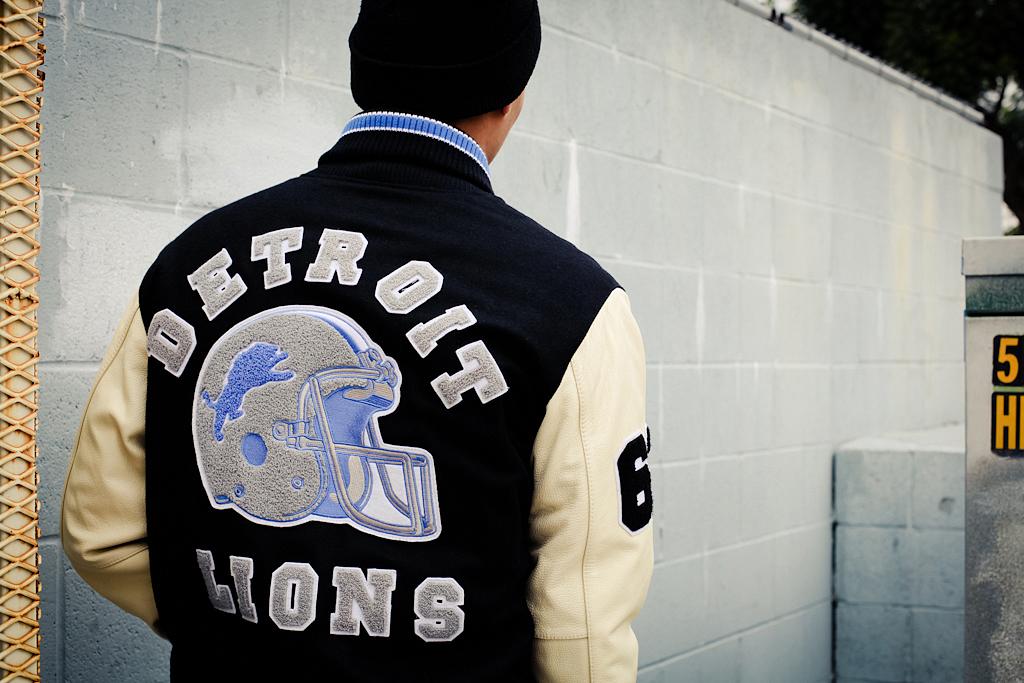 """G-III """"Axel Foley"""" Detroit Lions Varsity Jacket"""